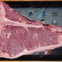 Das gute Steak davor