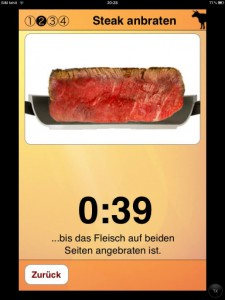 Der Countdown für das Steak läuft