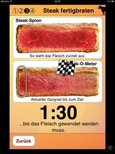 Per Steak-Spion zur richtigen Wendung