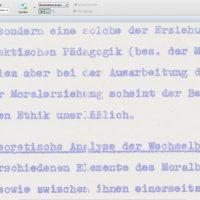 Text auf Ormig-Kopie, Ausschnitt