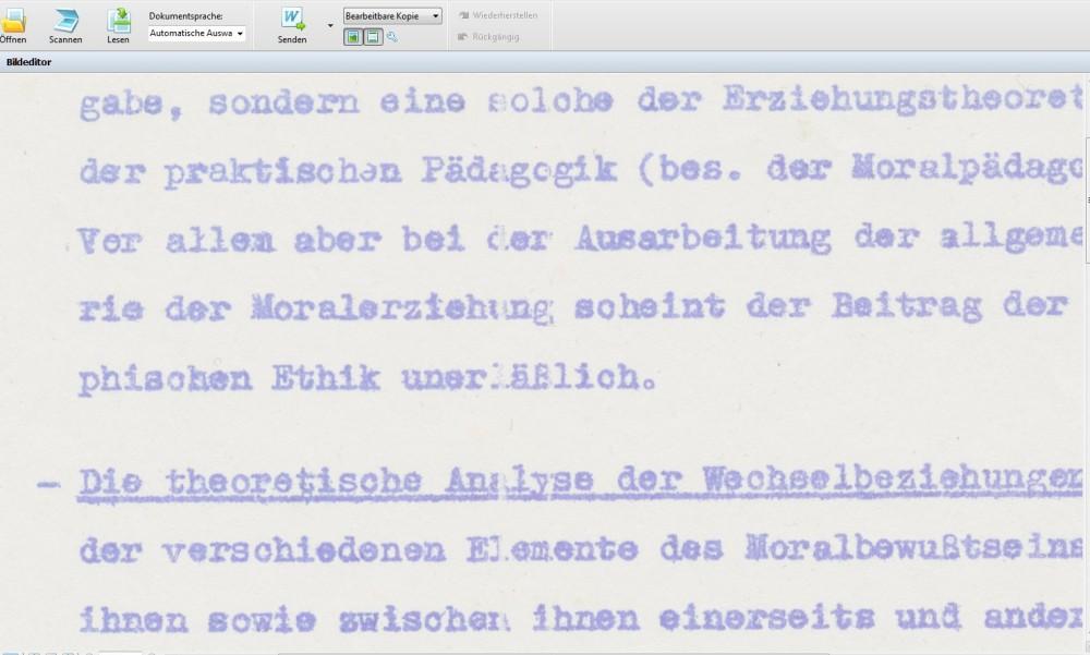Ormig digitalisieren: schwieriger als gedacht: Textausschnitt
